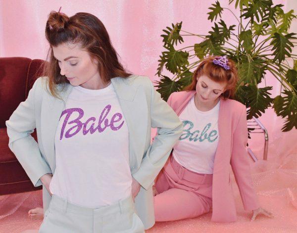 la Label sustainable Babe T-shirt