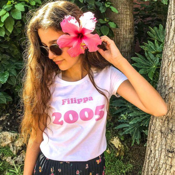 girl flower in hair